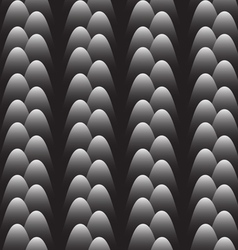 Monochrome seamless pattern with stylized eggs vector image