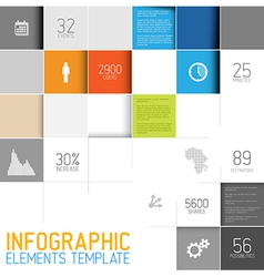 abstract squares background infographic te vector image vector image