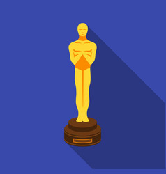 Academy award icon in flat style isolated on white vector