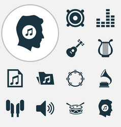 Audio icons set collection of megaphone sound vector