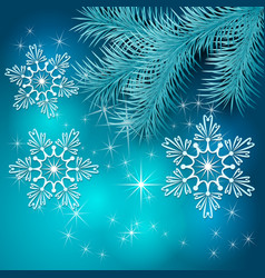 Blue Christmas Holiday BackGround vector image vector image