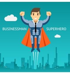 Cartooned Superhero Businessman Graphic Design vector image vector image