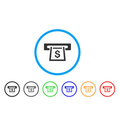 cashout slot rounded icon vector image