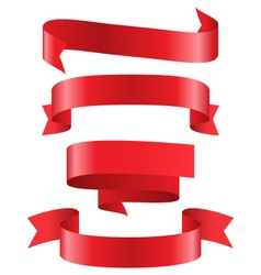 Celebration curved ribbons variations isolated on vector