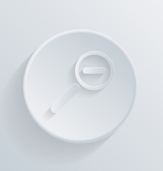 Circle icon with a shadow magnifier reduction vector