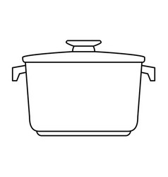 closed pot with handles icon image vector image vector image