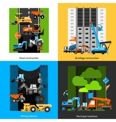 Construction industry icons set vector