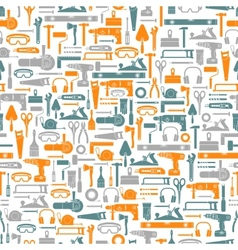 Construction tools seamless pattern vector