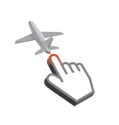 Cursor airplane design vector