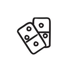 Domino sketch icon vector