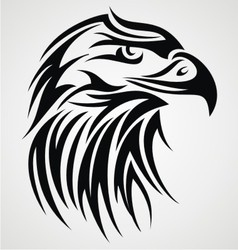 Eagle Head Tattoo Design vector image vector image