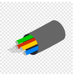 Electric cabel isometric icon vector