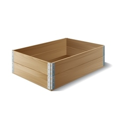 Empty wooden box vector image