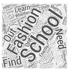 Fashion design school italy word cloud concept vector