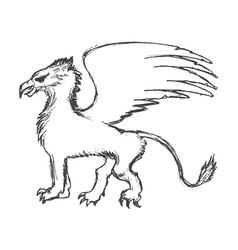 griffin mythological animal vector image