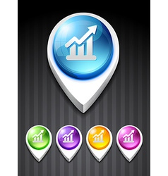 growth bar vector image vector image