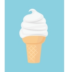 Ice cream flat icon vector image vector image