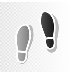 Imprint soles shoes sign new year vector