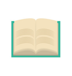Isolated study book vector