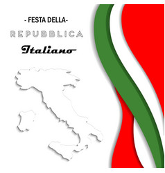 italian national rebuplic day vector image