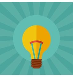 Light bulb idea concept in flat style vector image