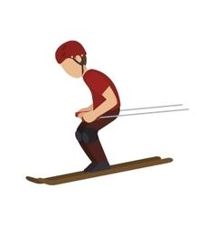 man trainning ski sport vector image vector image