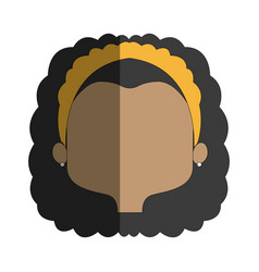 Pretty girl face female character head vector