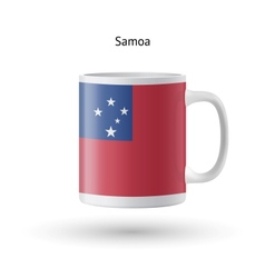 Samoa flag souvenir mug on white background vector