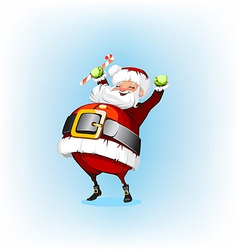 Santa Claus holding a candy vector image vector image