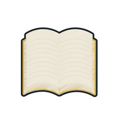 School open book reading icon vector