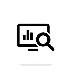 Search chart icon on white background vector image vector image