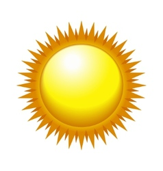 Shiny sun in the light sky vector
