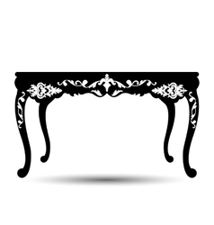 silhouette of table vector image