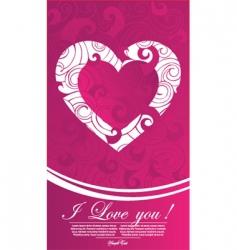 valentine illustration vector image vector image