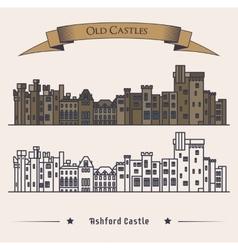 Victorian Irish castle exterior view vector image vector image