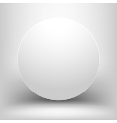 White empty sphere with shadow vector image vector image