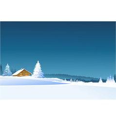 Winter rural landscape vector image vector image