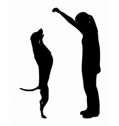Dog training obedience vector