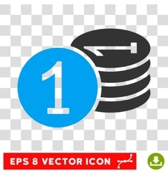 Coins eps icon vector