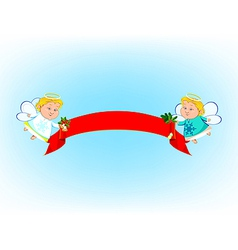 Angel banner vector