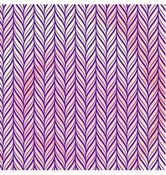 Knitted pattern on watercolor texture vector