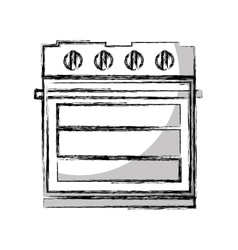 Oven appliance isolated icon vector