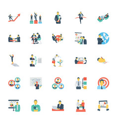 Human resources and management icons 11 vector