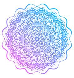 abstract round pattern oriental mandala vector image