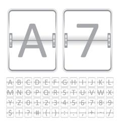 Mechanical scoreboard vector image
