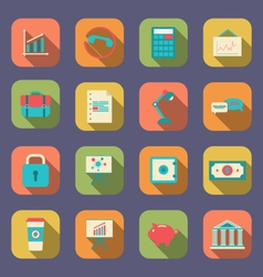 Set flat icons of web design objects business vector