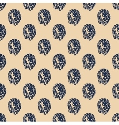 Lion heads on seamless pattern background vector