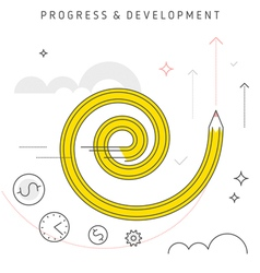 Progress development vector
