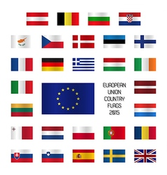 Set od european union country flags vector