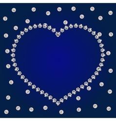 shiny diamonds frame vector image
